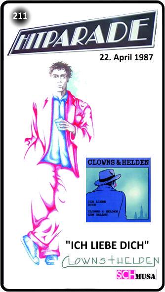 ZDF-Hitparade 211 - 22. April 1987 -Clowns & Helden - Ich liebe dich - schmusa-card