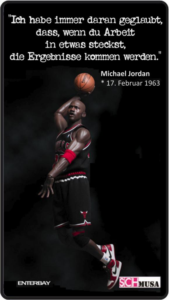 Michael Jordan, Sport-Legenden, Spruch-Karte, schmusa, Enterbay, https://www.enterbay.com/