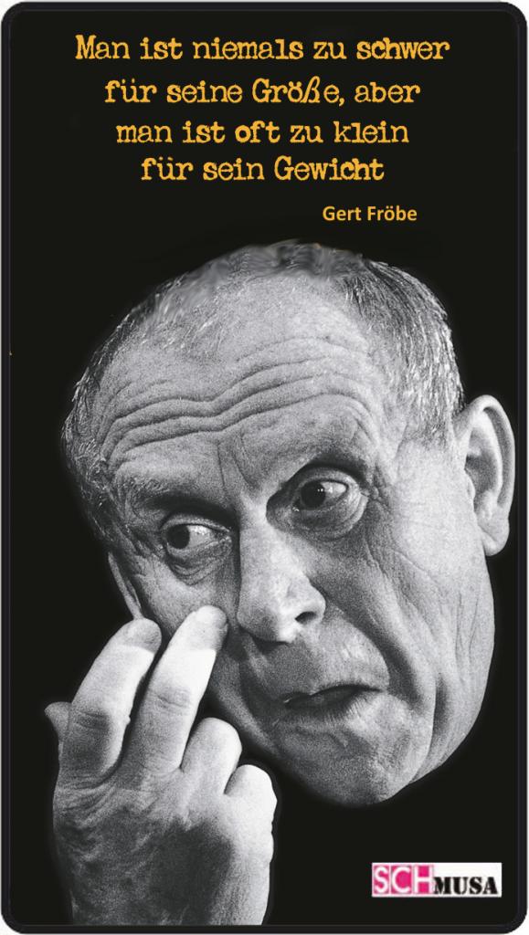 Gert Fröbe - Zitat - schmusa-Card,- Foto: Gert Fröbe liest Christian Morgenstern und Erich Kästner