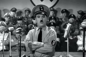 "Charlie Chaplin als ""Der große Diktator"", 15. Oktober 1940"